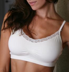 Coobie Lace V-neck seamless bra (32A-36D)