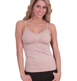 Padded v-neck lace cami