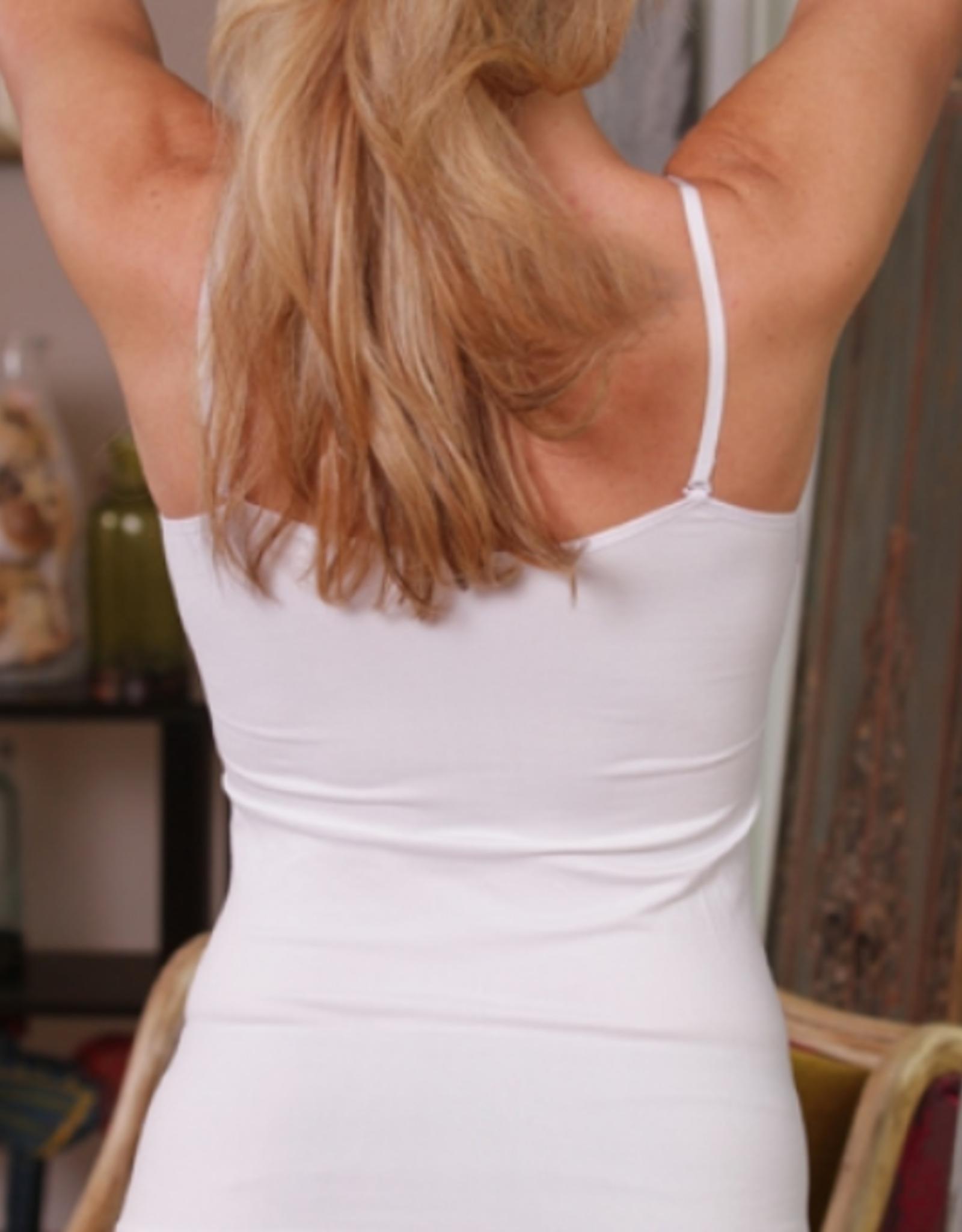 Padded v-neck lace cami