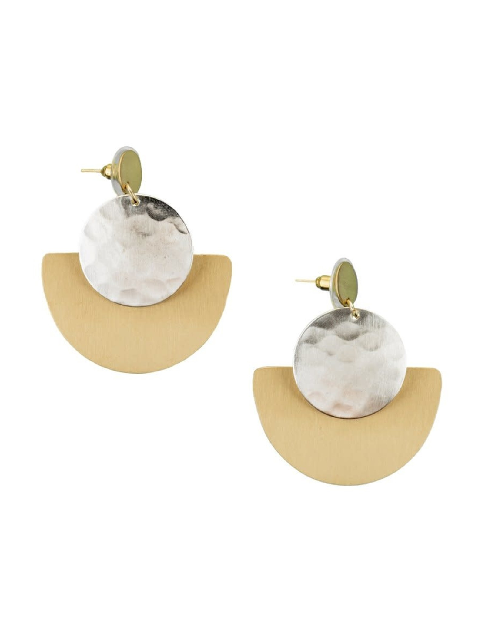 Matr Boomie Vitana earrings deco disc