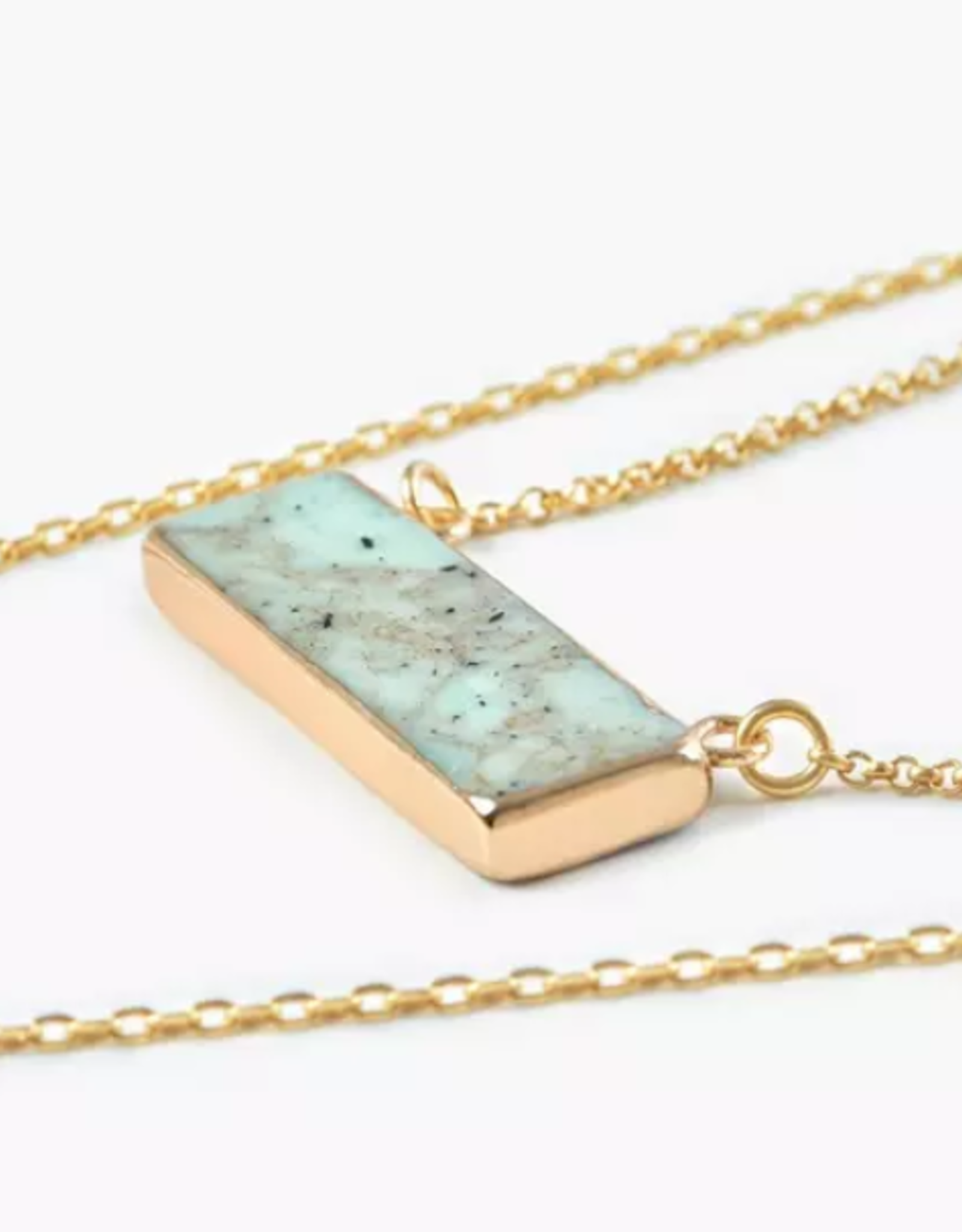 2 Layer stone necklace
