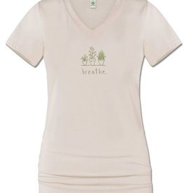 Breathe eco v-neck tee