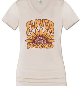 Flower Powered eco v-neck tee