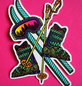 Ski love sticker