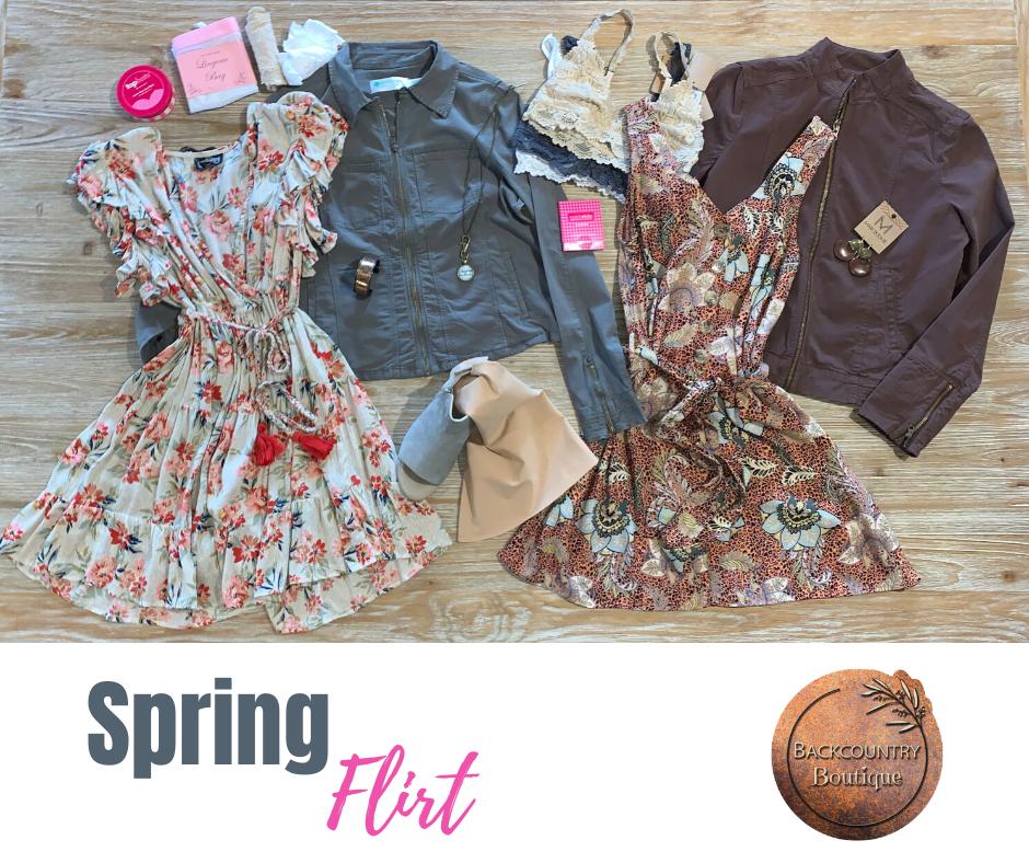 Spring Flirt Flatlay