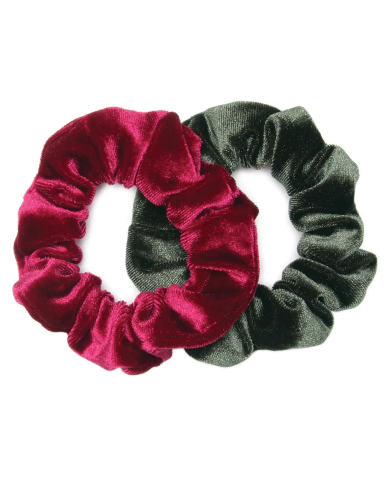 Banded Encore velvet scrunchies