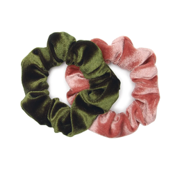 Banded Palazzo velvet scrunchies