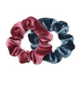 Banded Tapestry velvet scrunchies