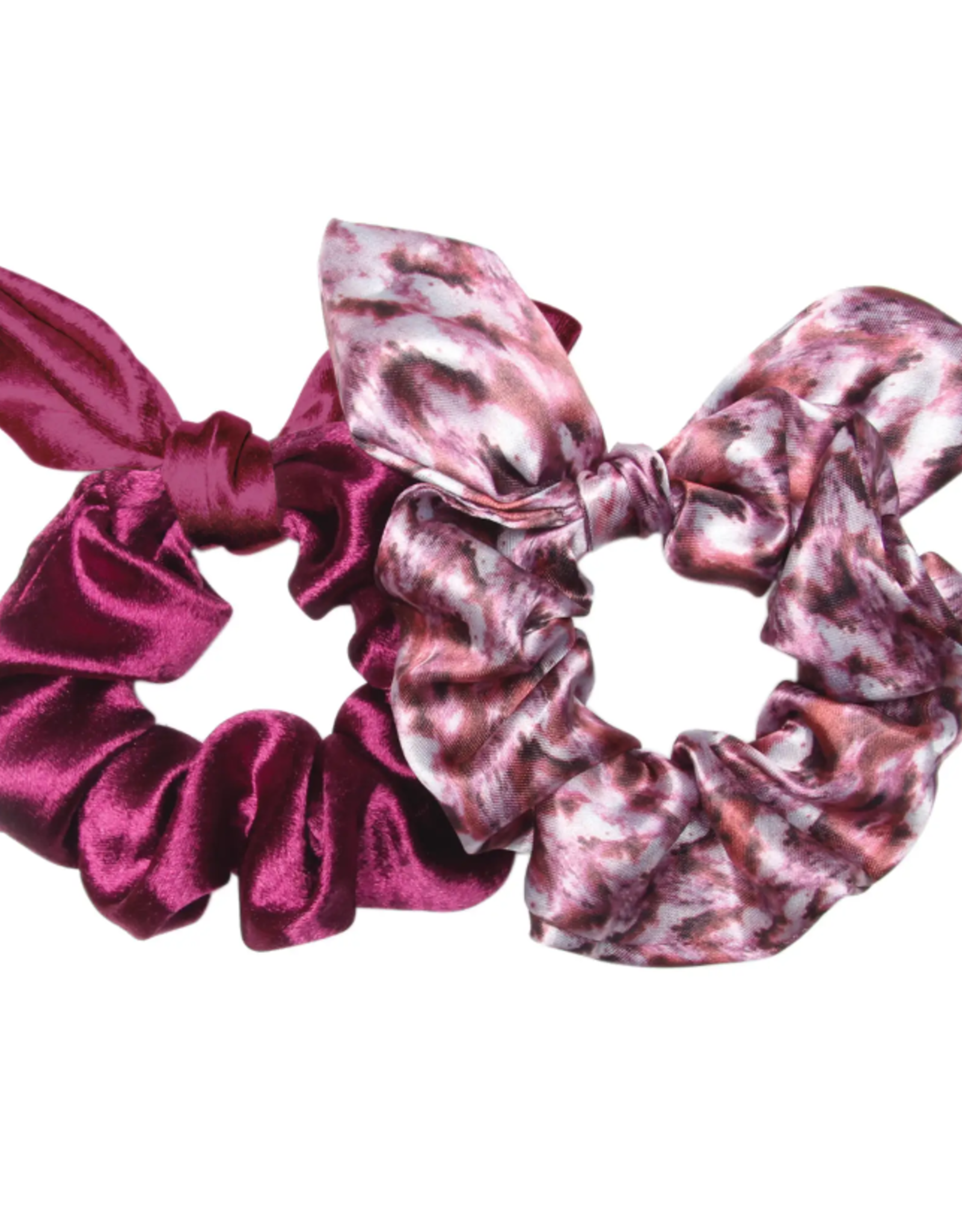 Banded Valley of Fire bow scrunchies