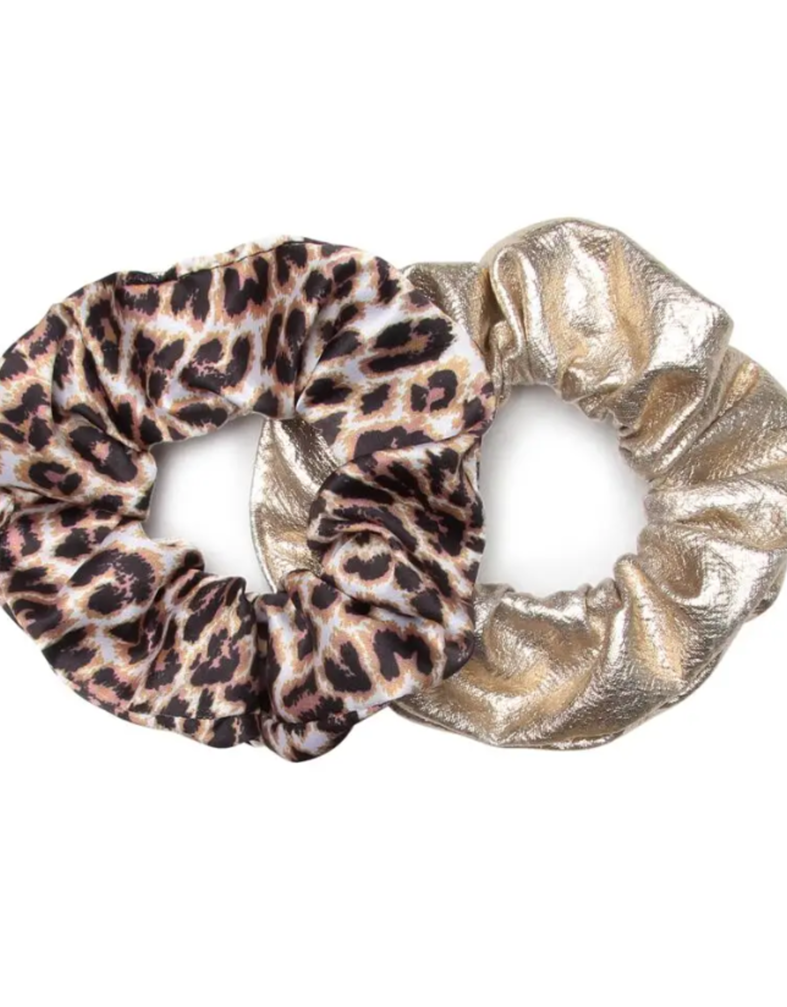 Banded Classic Leopard scrunchies