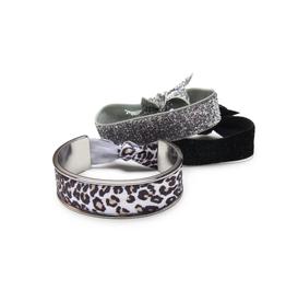 Banded Leopard Sparkle hair tie bracelet