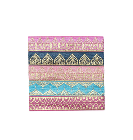 "Banded Indian Palace hair ties (5/8"")"