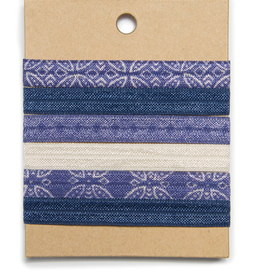 "Banded Moroccan Ink hair ties (3/8"")"