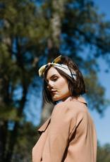 Banded Chartreuse Stripe scrunchie bandana