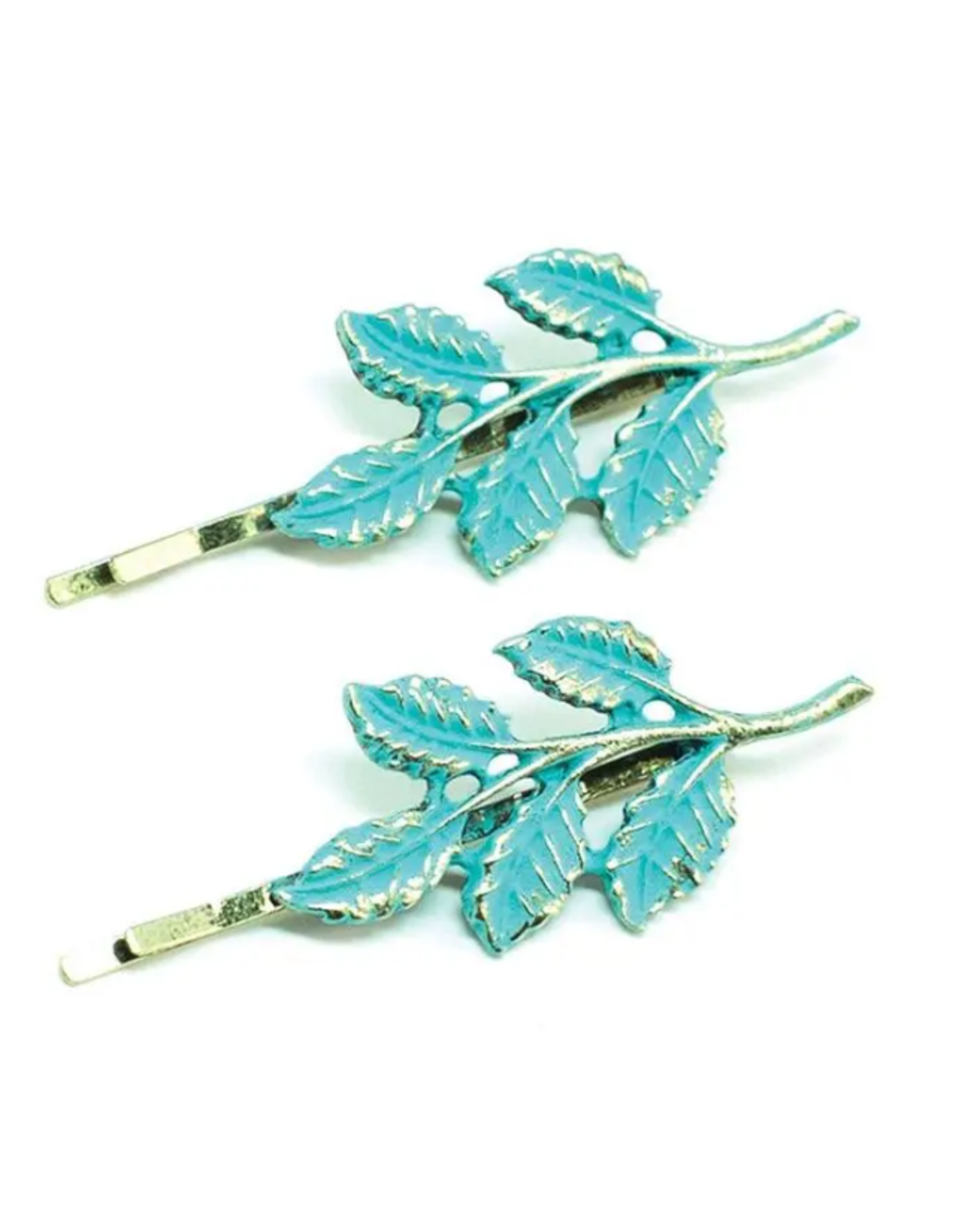 Gleeful Peacock Hippie Chick bobby pins
