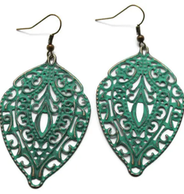 Gleeful Peacock Abundance Filigree earrings