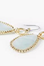 Stone drop earrings gold