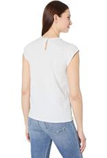 Cap sleeve knit blouse