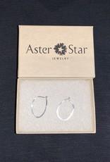 Aster Star Sterling silver round hoop earrings