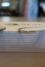 Sterling silver elongated hoop earrings