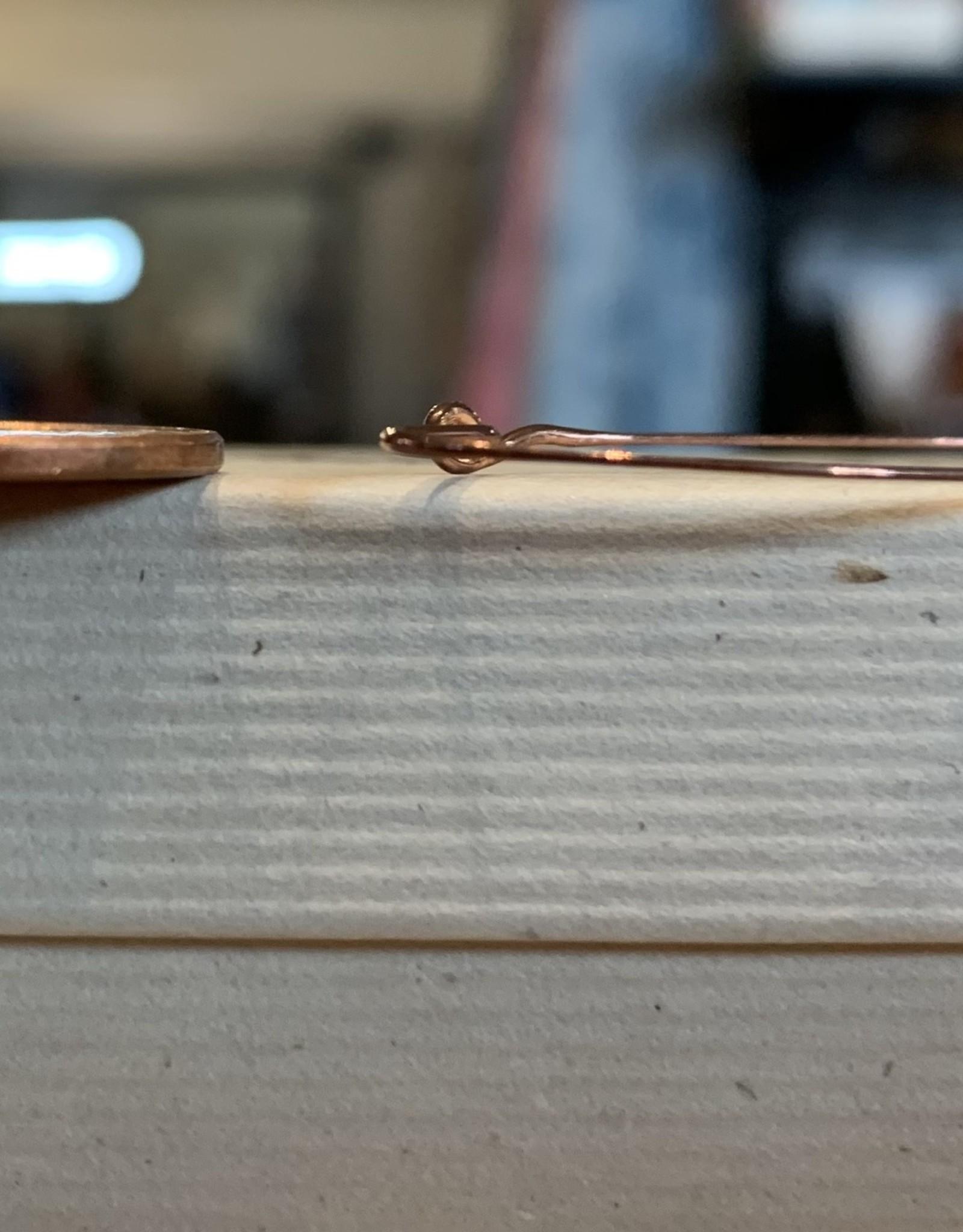 Aster Star Copper elongated hoop earrings
