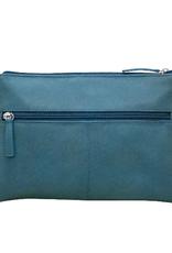 Leather crossbody- adjustable shoulder strap (Jeans Blue)