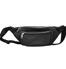 Leather waist pouch- black