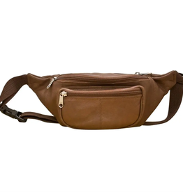Leather waist pouch- toffee