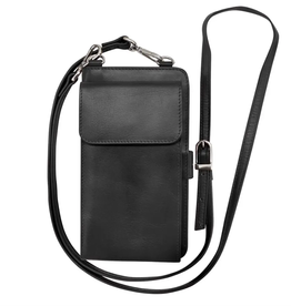 ili New York Leather Smartphone wallet- Black