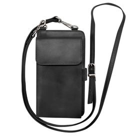 Leather Smartphone wallet- Black