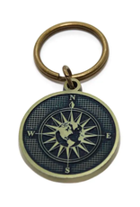 Gleeful Peacock True North keychain- midnight (TN2)
