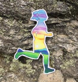 Runner Girl sticker