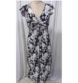 Twist front cap sleeve dress