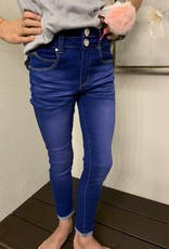 Pink Latte Stretchy jeans w/ unicorn keychain