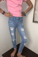 Pink Latte Distressed stretchy jeans