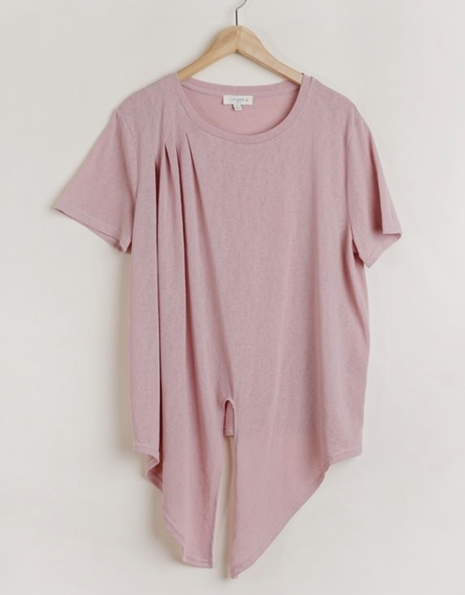 Pink knotted tee