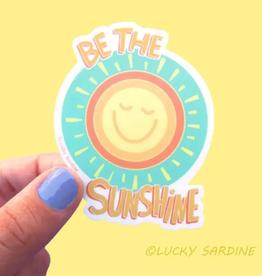 Lucky Sardine Be the Sunshine waterproof vinyl sticker