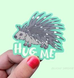 Lucky Sardine Cuddly Porcupine waterproof vinyl sticker
