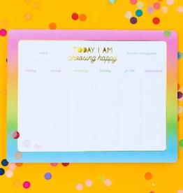 Taylor Elliott Choose Happy weekly list pad planner