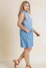 Ombre denim dress