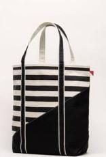 ShoreBags Large Contemporary Boat Bag- Black Stripe