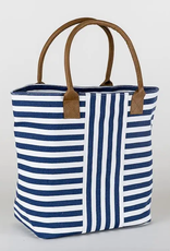 ShoreBags Cabana Tote- Navy narrow stripe