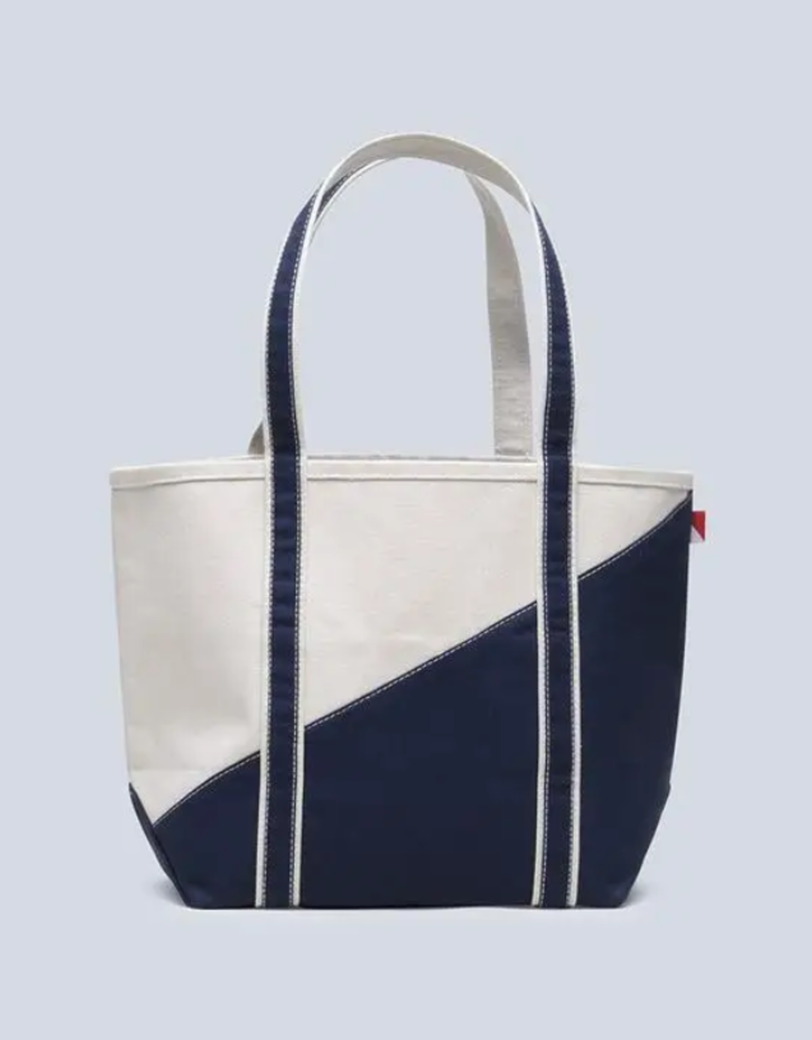 ShoreBags Medium Contemporary Boat bag- Natural/Navy