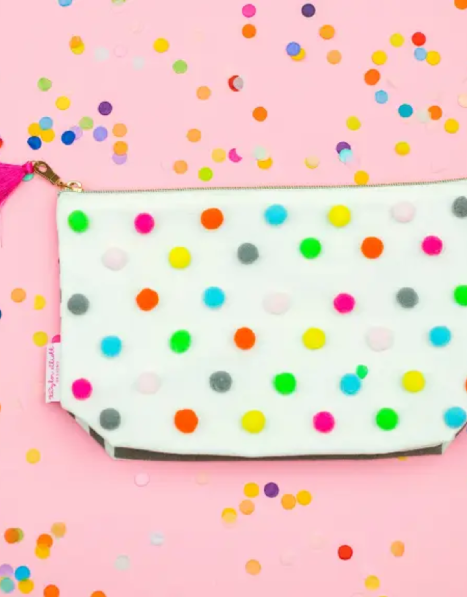 Taylor Elliott Large Pom Pom Cosmetic Bag