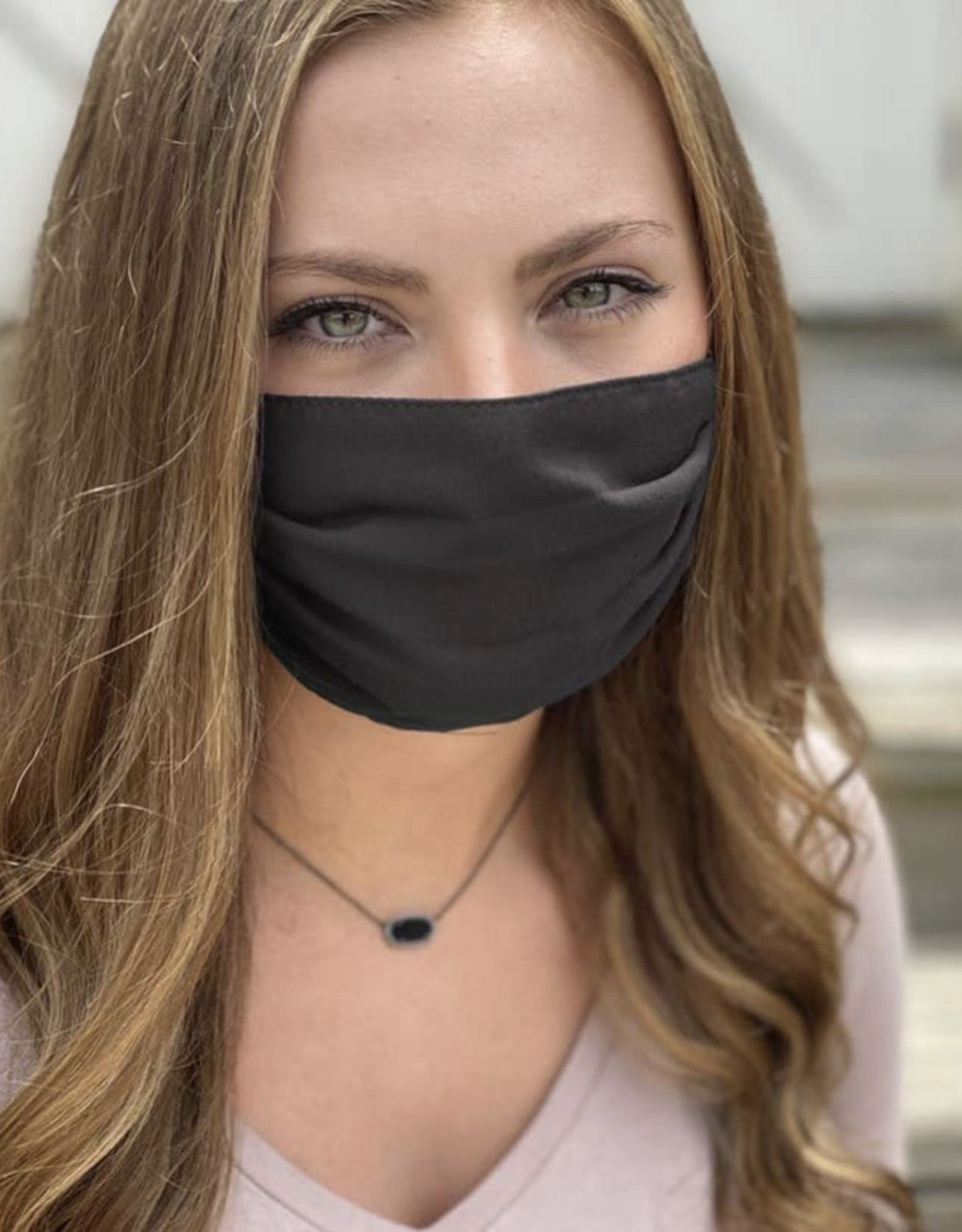 Salt and Palms Black face mask