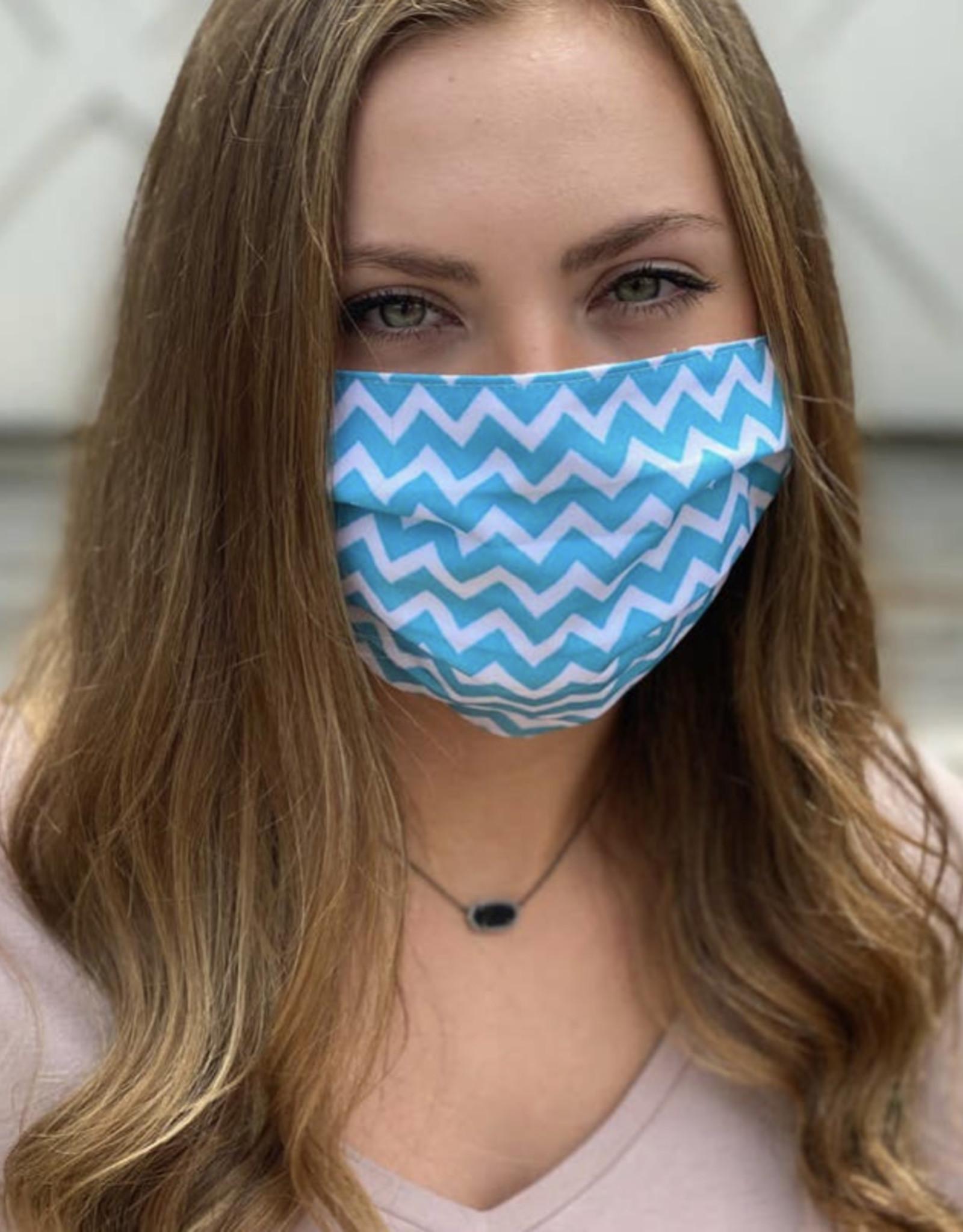 Salt and Palms Chevron face mask