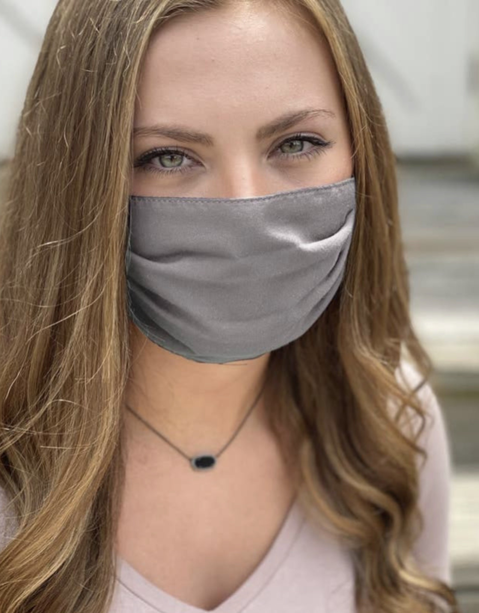 Salt and Palms Gray face mask