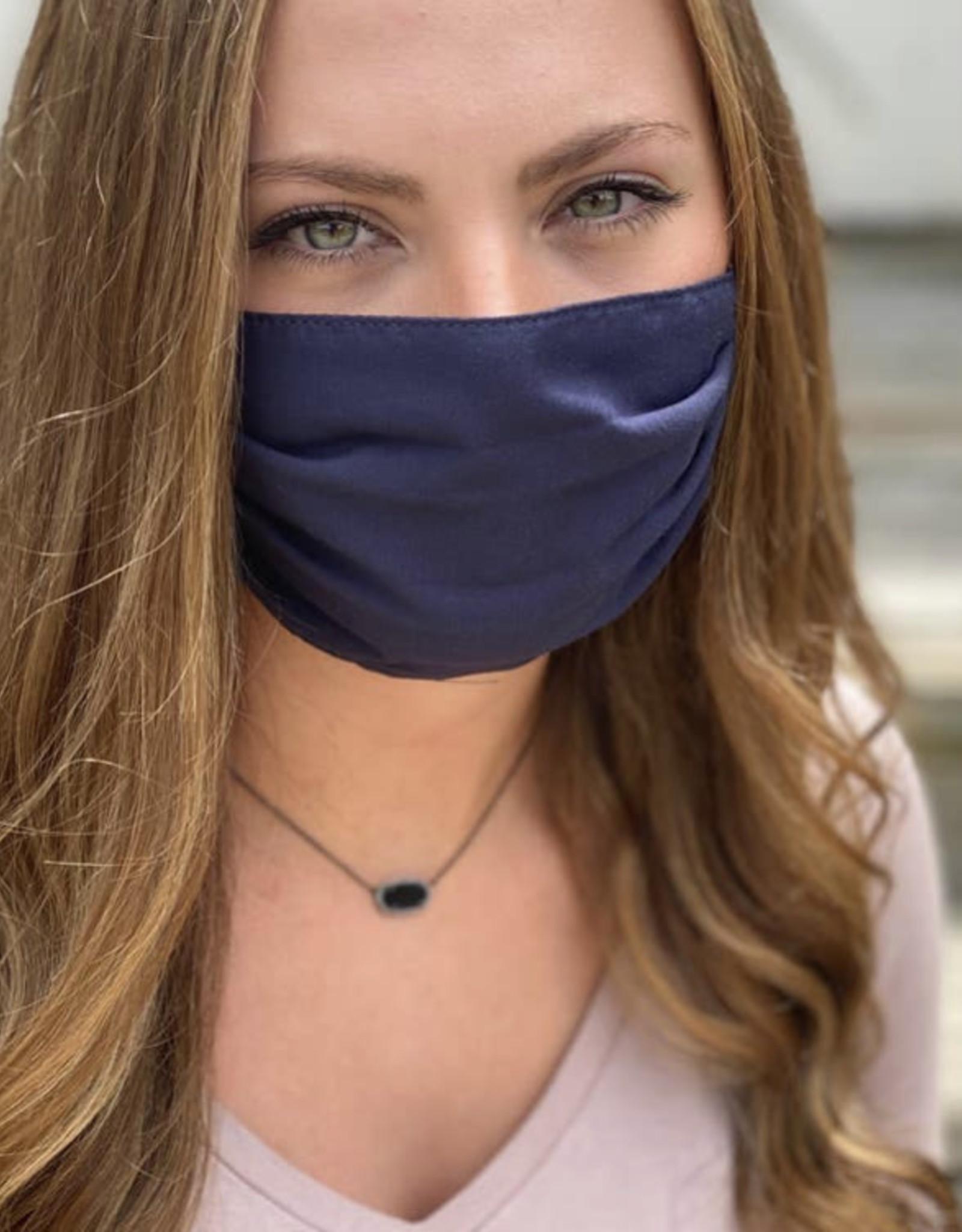 Salt and Palms Navy face mask