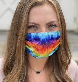 Salt and Palms Tie Dye face mask