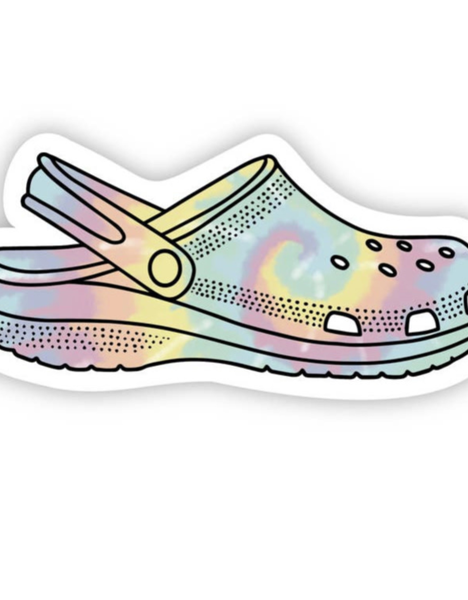 Big Moods Tye die croc sticker